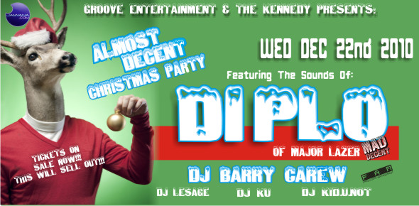 DIPLO at The Kennedy with Dj Barry Carew