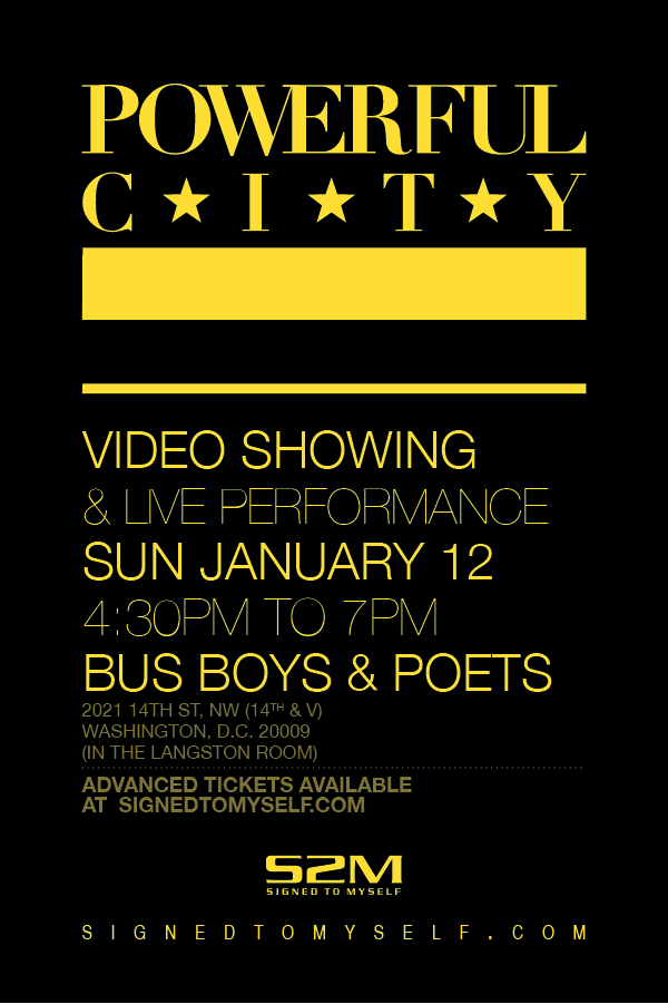 Flyer for Jan 12 2014 show, 5pm, Bus Boys and Poets