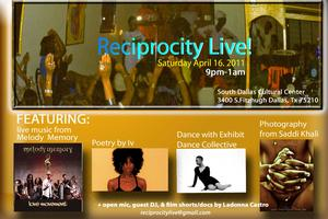 reciprocity Live! flyer
