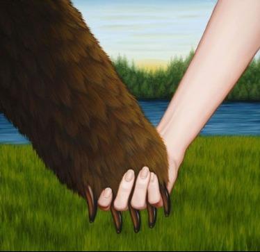 Bear Handshake with Female