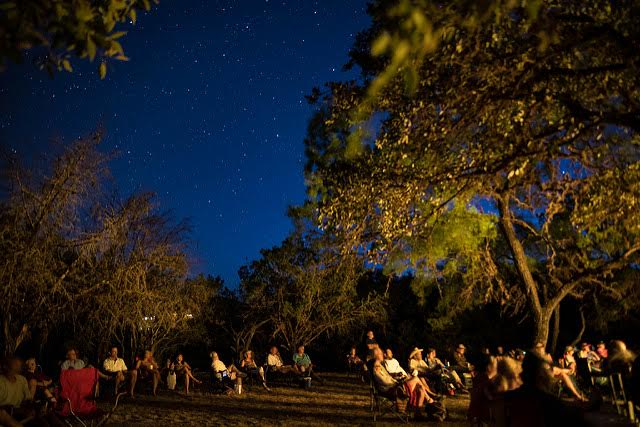 Past Festival night sky