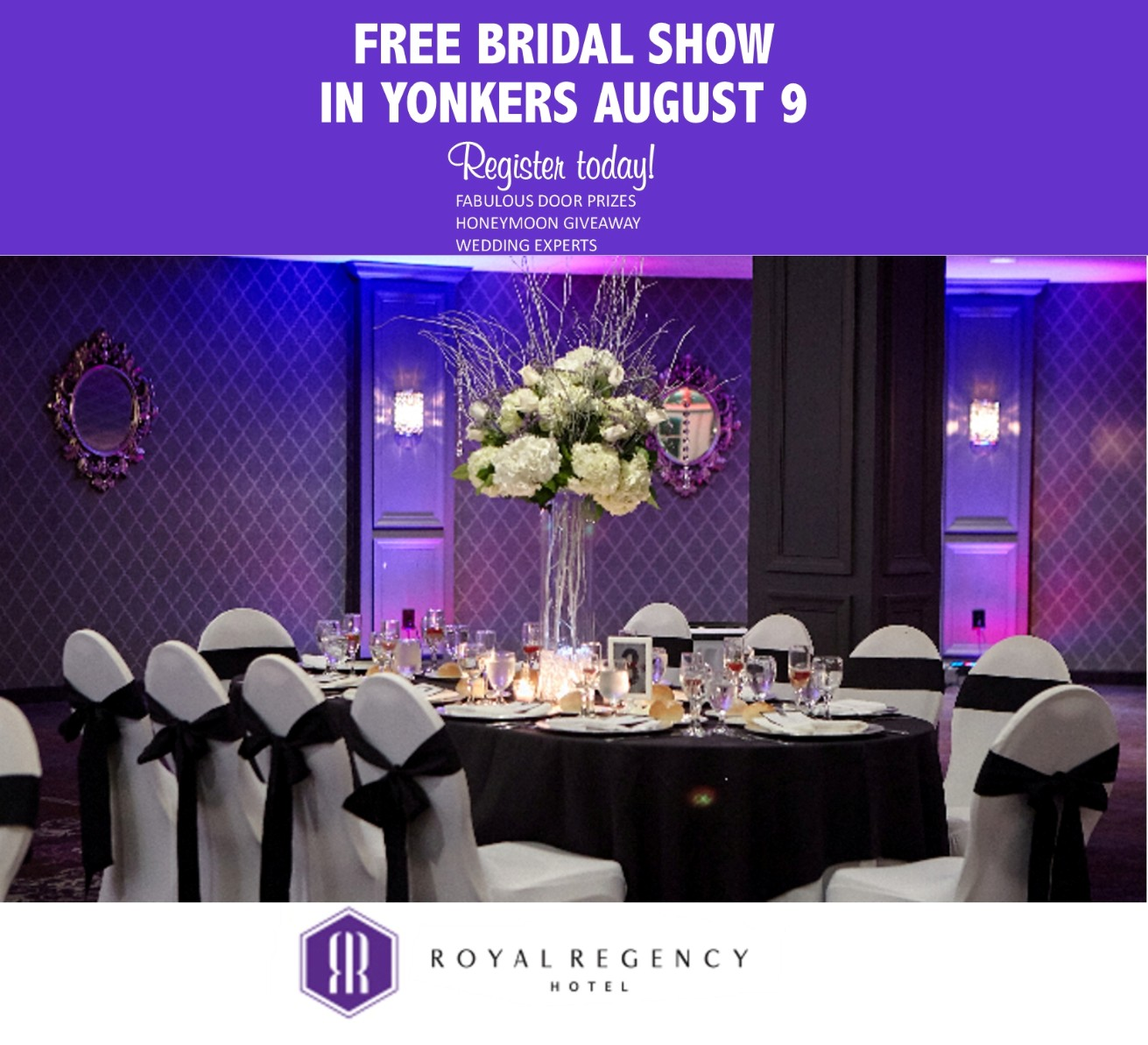 August 9 Free Bridal Show At The Royal Regency Hotel In
