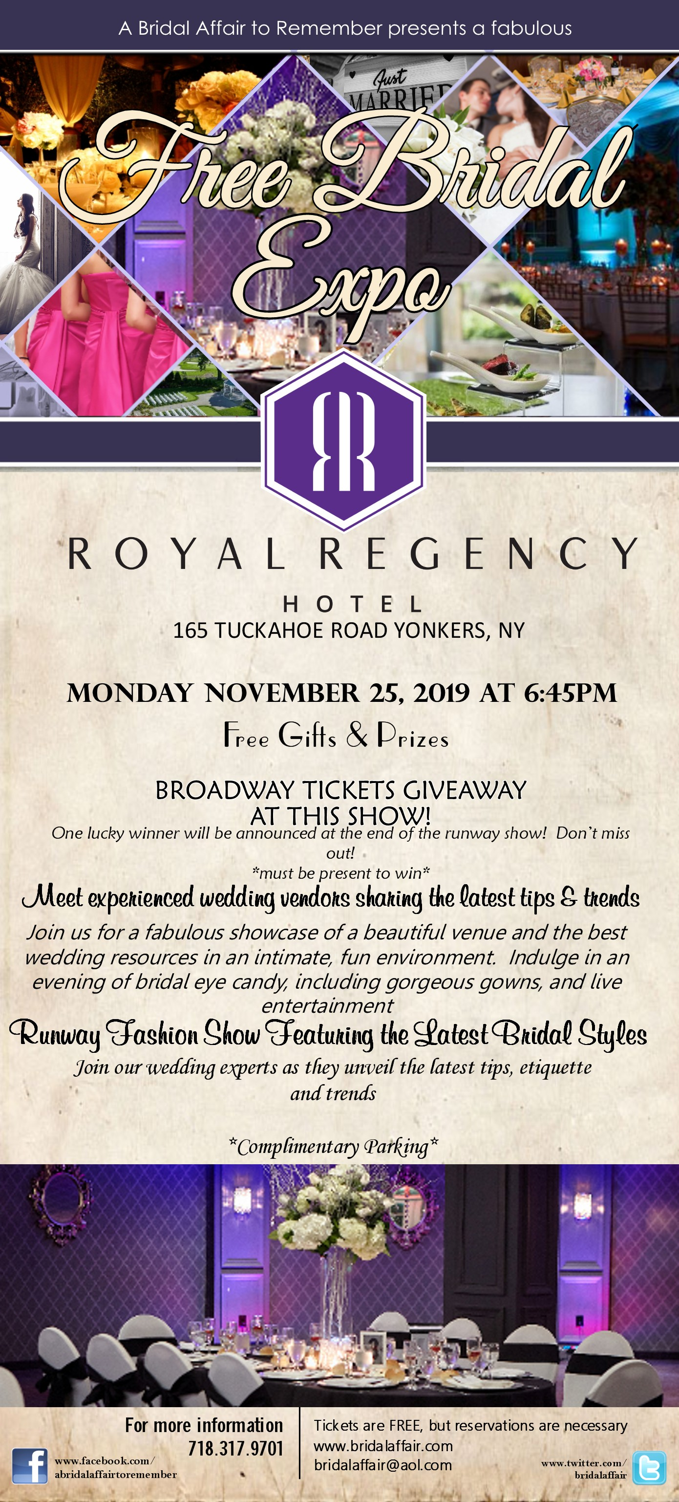 Yonkers Parking Tickets >> November 25th Free Bridal Show At The Royal Regency In