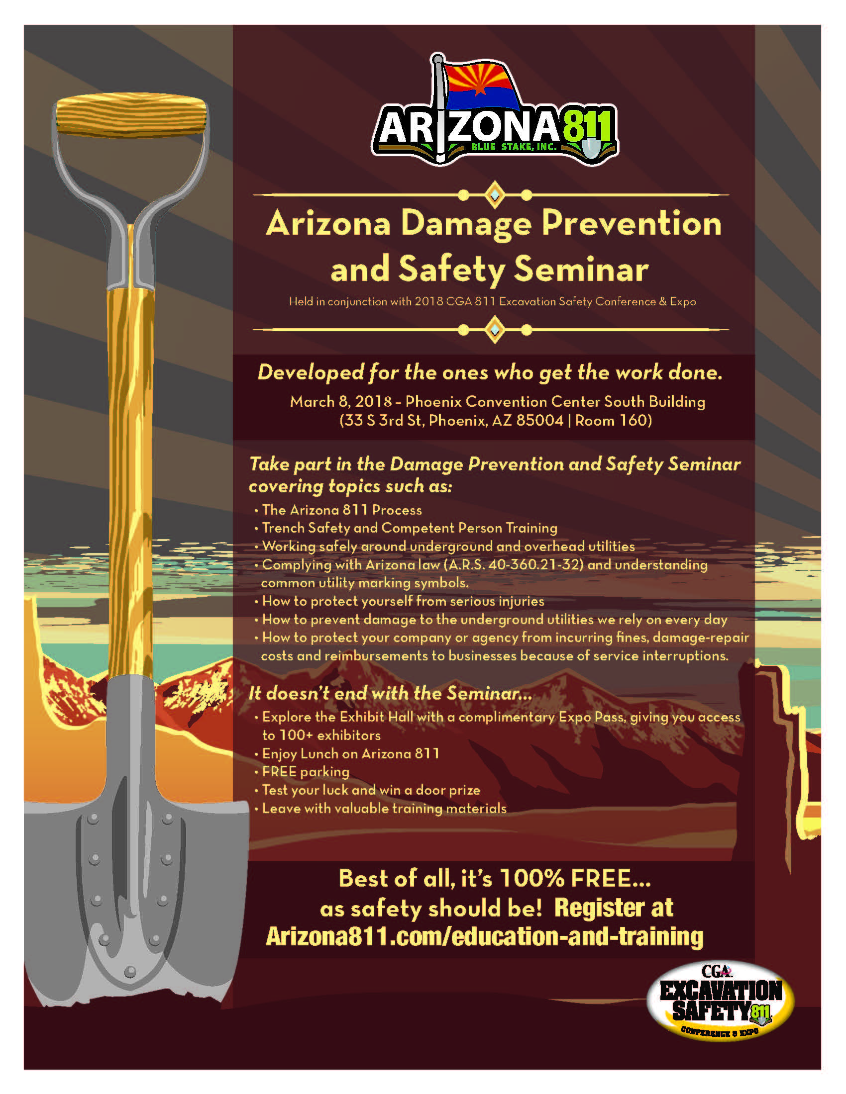 CGA Arizona 811 Seminar invite
