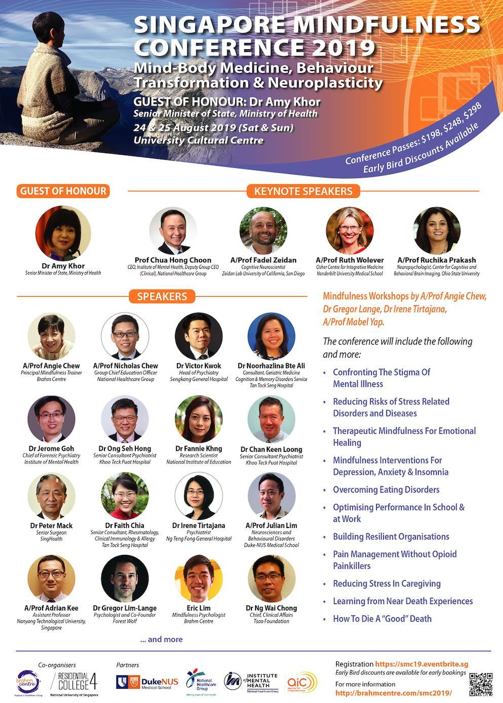 SINGAPORE MINDFULNESS CONFERENCE 2019 Aug 24-25 (2 days