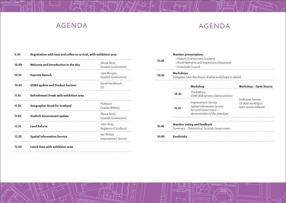 OSMA Conference 2015 Agenda
