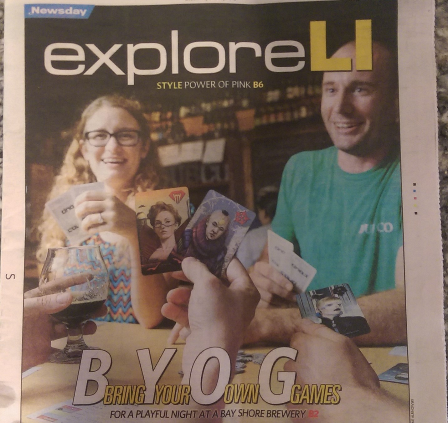 Game Night was featured in Newsday on the cover of Part 2