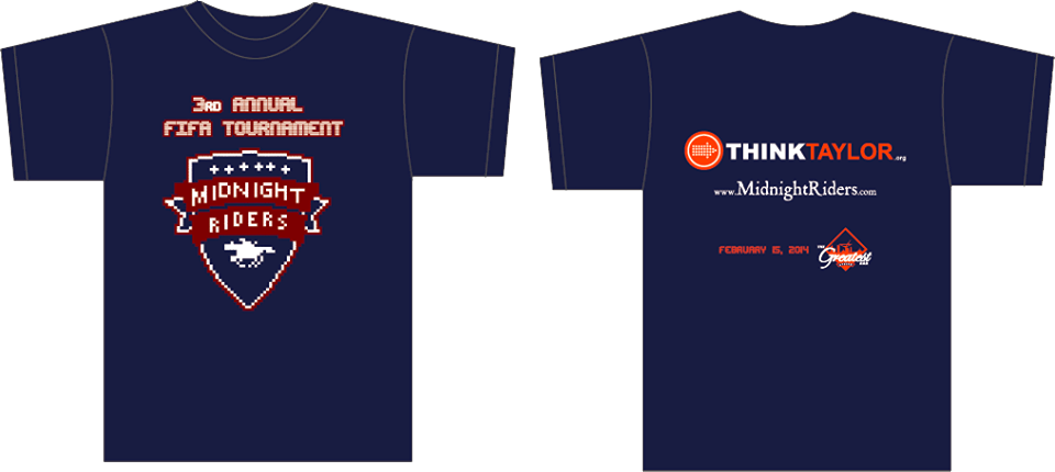 3rd Annual Midnight Riders FIFA Tournament Tshirt