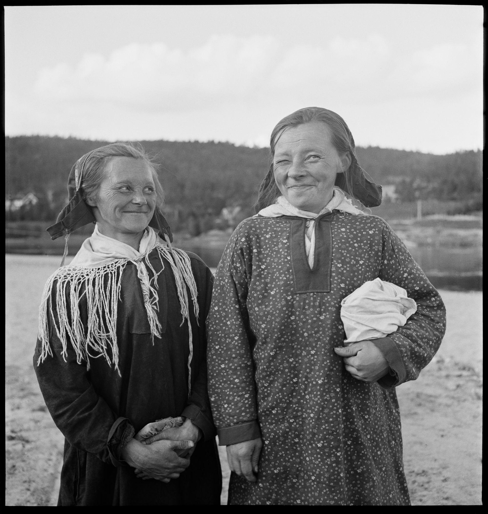 Foto: Elisabeth Meyer, Elvesamer fra Karasjok, 1940-tallet. Eier: Preus museum, Elisabeth Meyers arkiv Andre eiere: Finnmark fylkesbibliotek