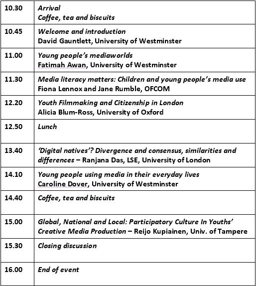 Schedule 15 Sept 2010