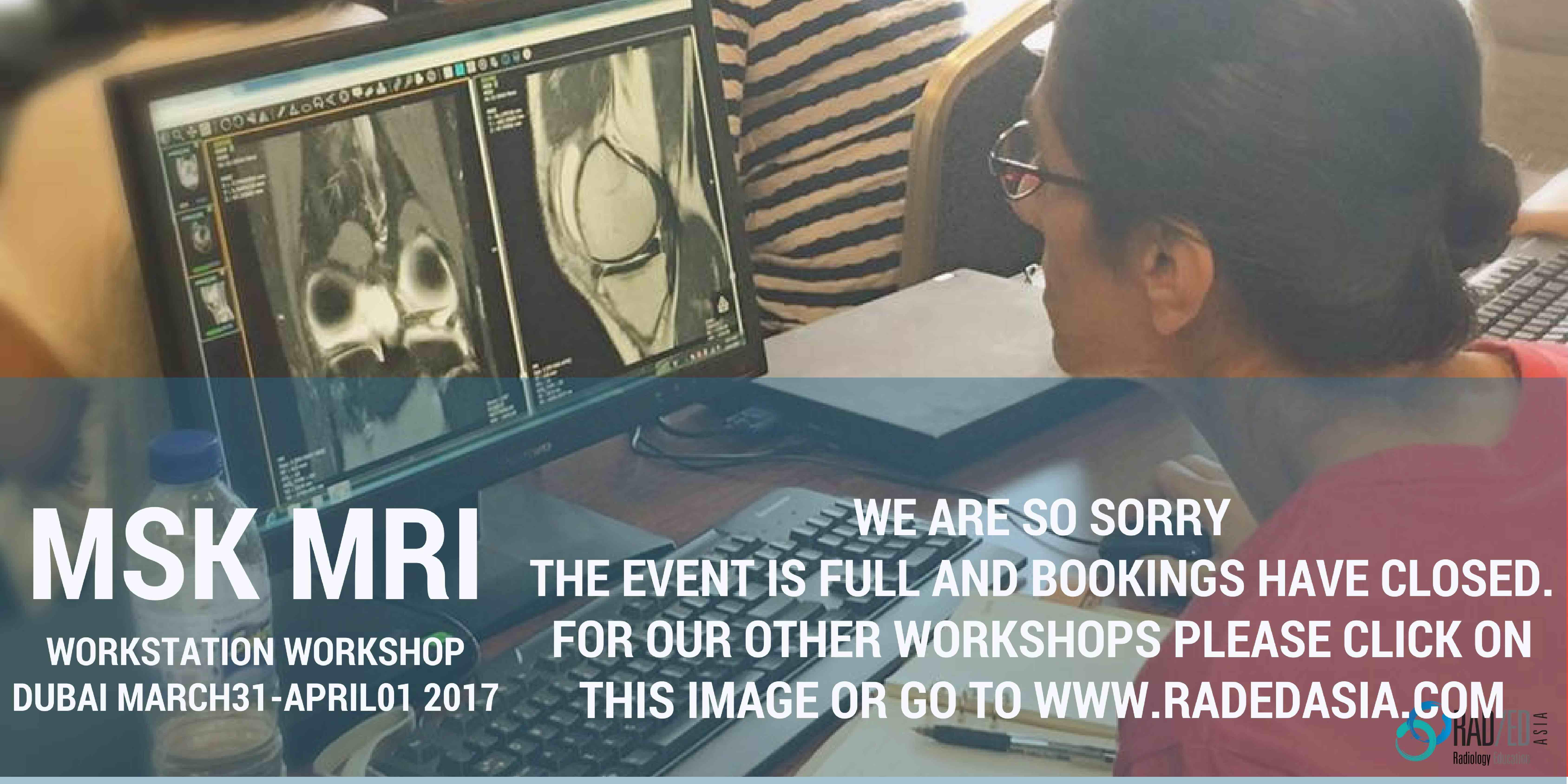 dubai radiology conference msk mri