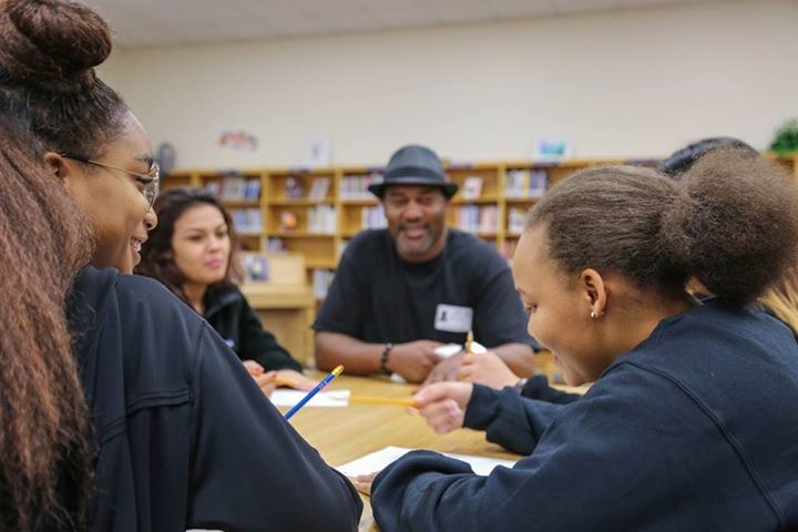 Students at Metro Opportunity High School in Fort Worth are pictured accessing our writing program for the first time.