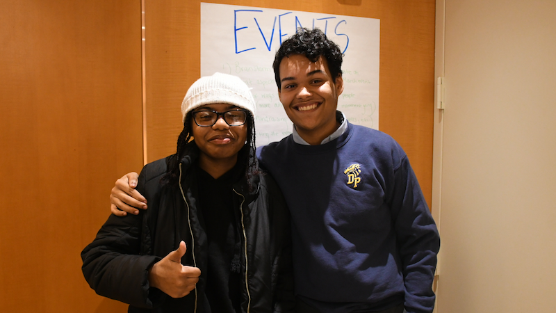 Sabrina (left) is a co-host of Miseducation and Nelson (right) is a co-founder of Teens Take Charge.