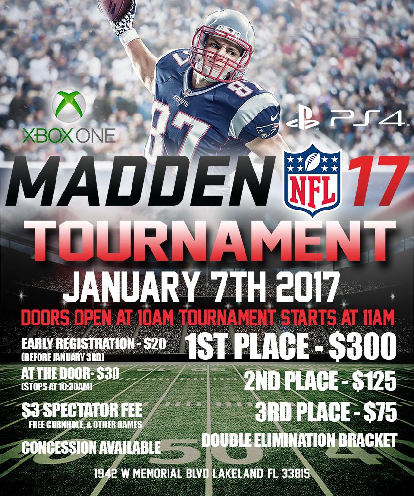 Madden 17 Tournament Flyer