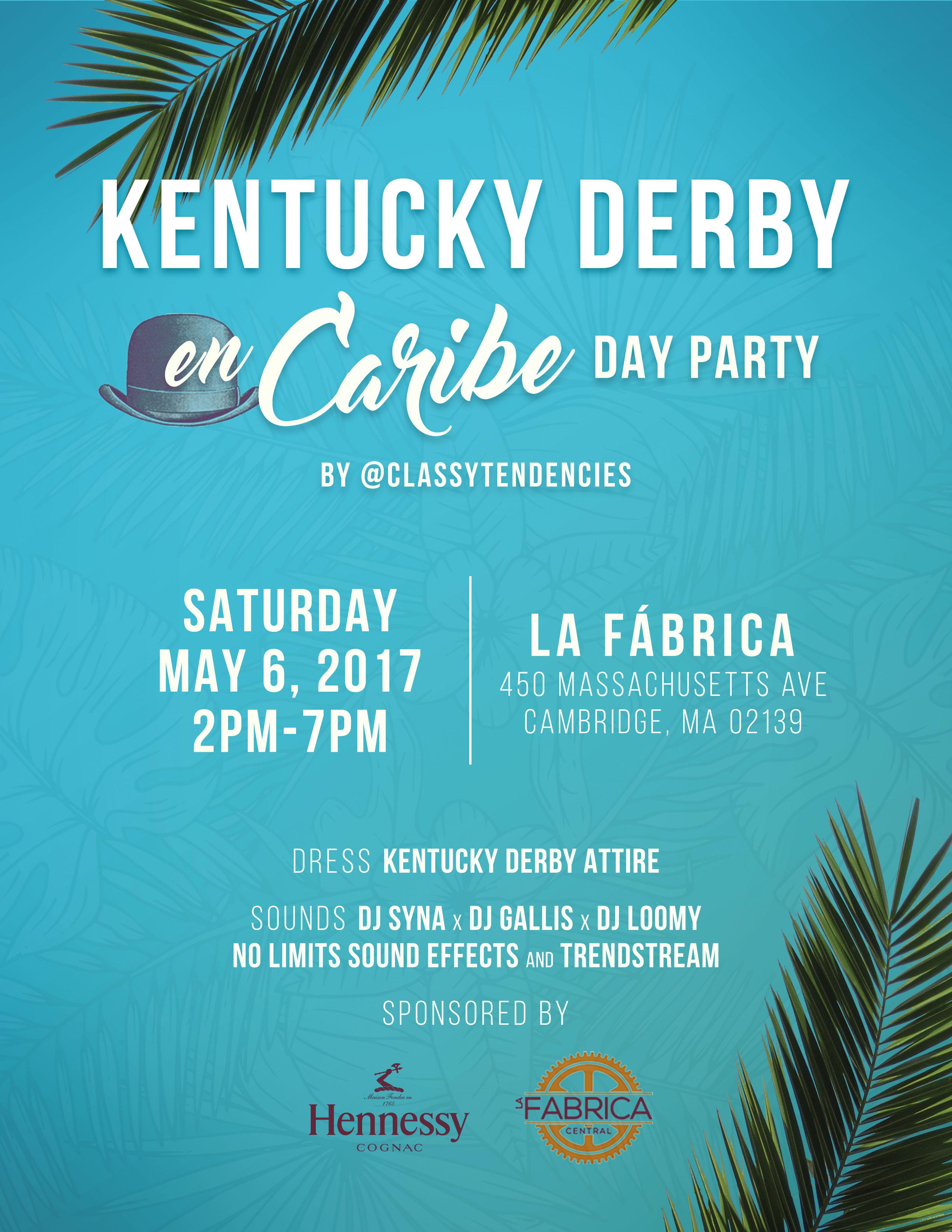 Kentucky Derby en Caribe Day Party Flyer
