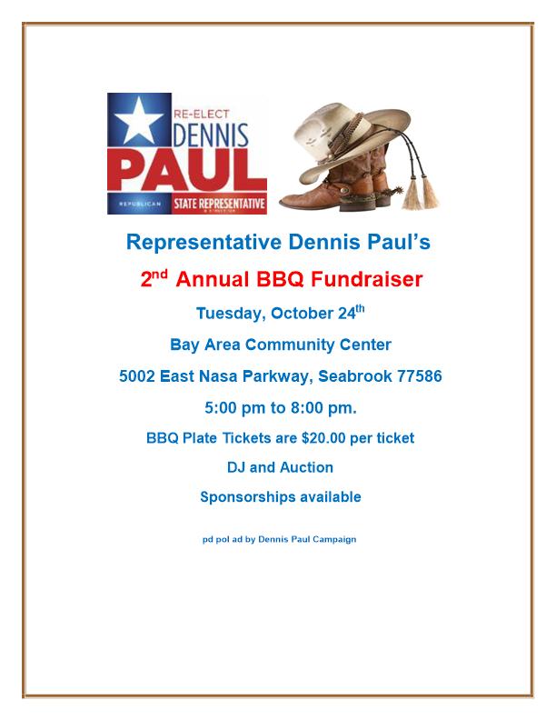 Representative Dennis Pauls' 2nd Annual BBQ