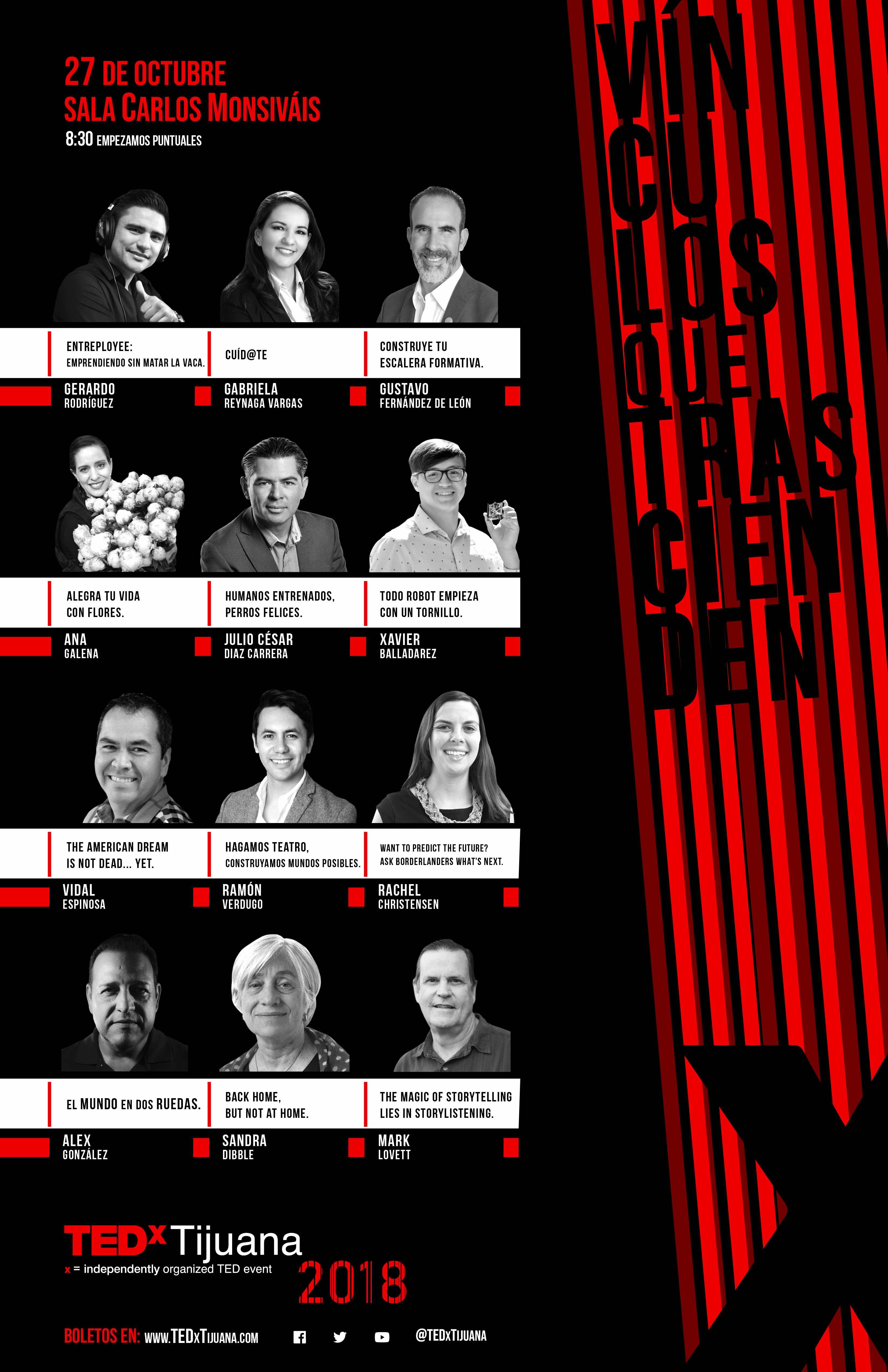 Speakers TEDxTijuana 2018