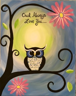 Owl Always Love You #3 Painting with Canvas Escapes at Running Vines Winery, Chesterton, IN ...