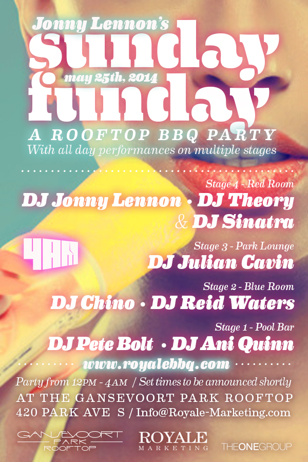 Sunday Funday At Gansevoort Park Rooftop