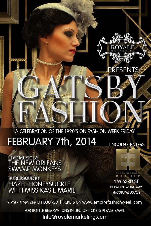 Gatsby Fashion Week Party