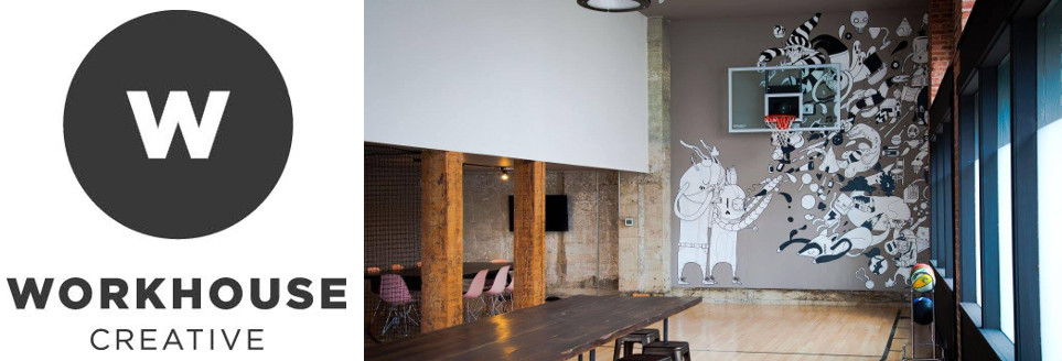 Workhouse Creative Logo and Interior