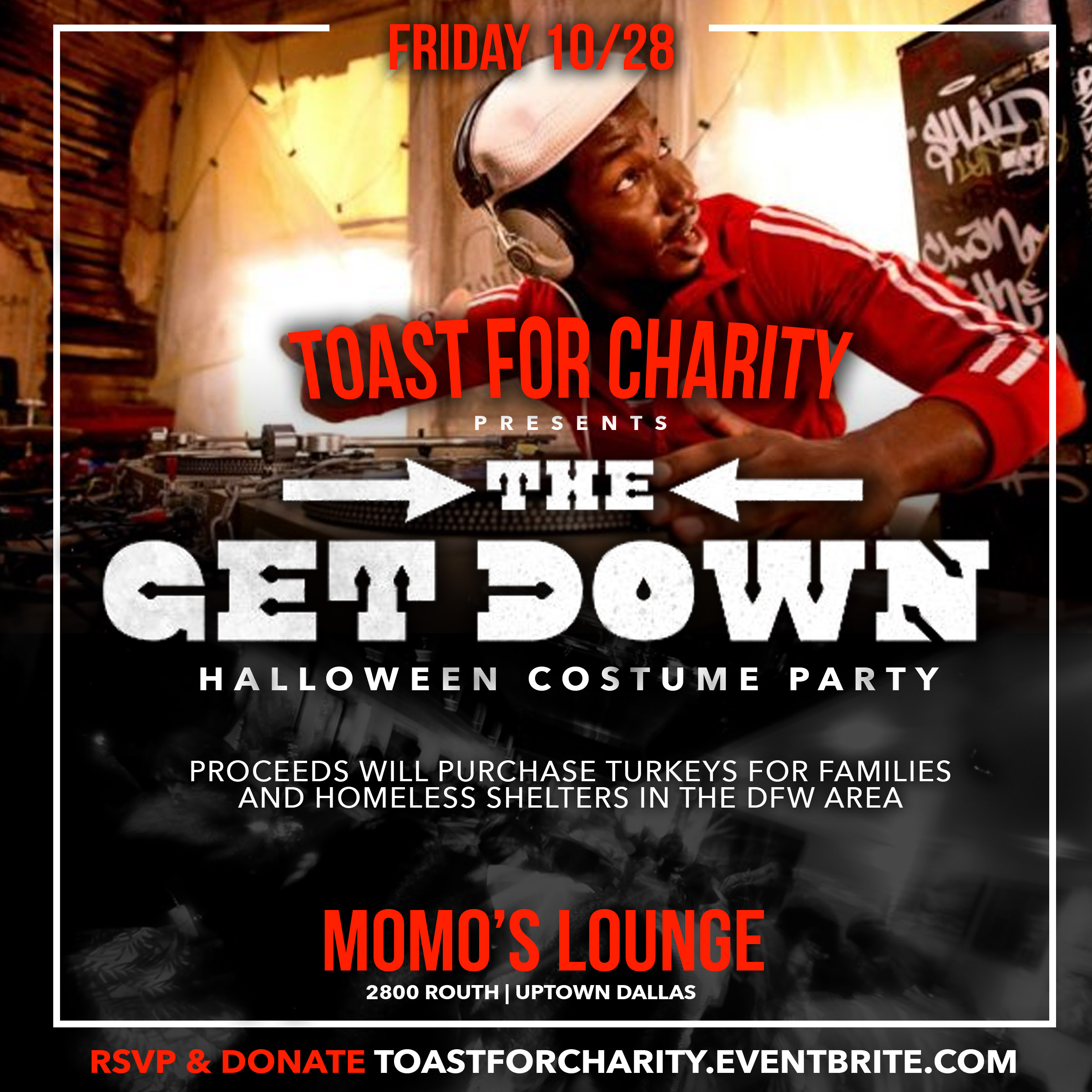 The Get Down: Toast For Charity Halloween Party Tickets, Fri, Oct ...