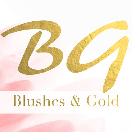 Blushes and Gold Logo