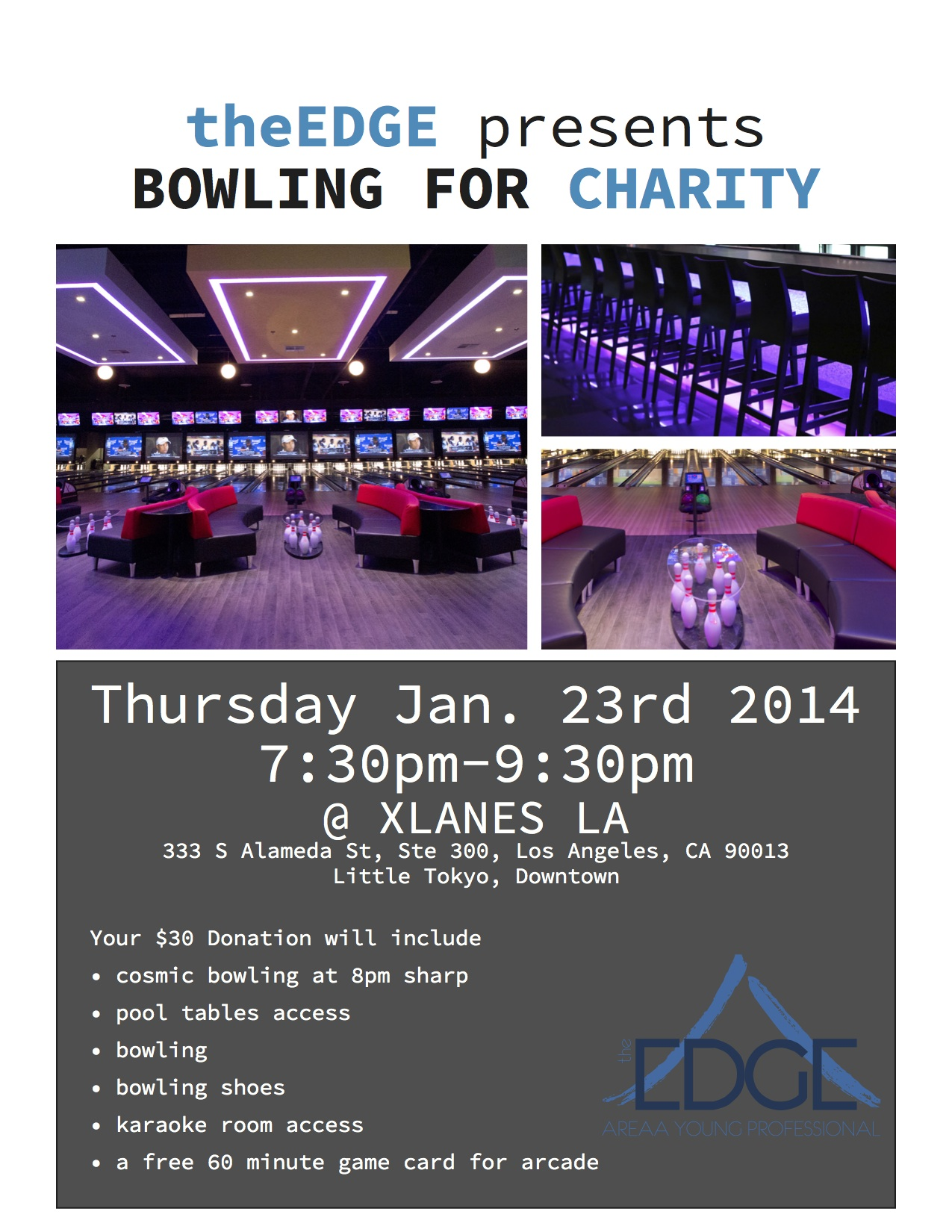 Bowling for Charity flier