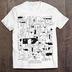 Winning AIGA CO Drink & Draw Shirt Design