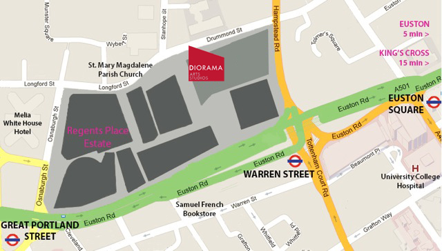 Diorama Arts Centre Map