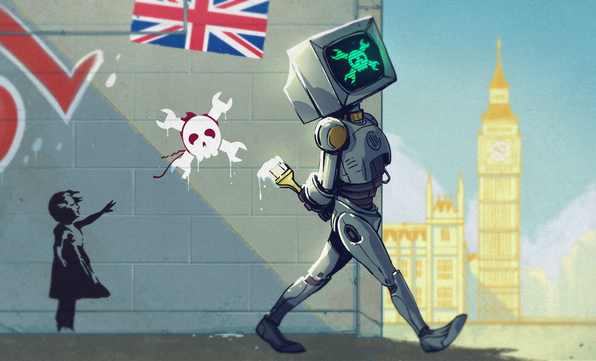 Hackaday takes on Banksy art