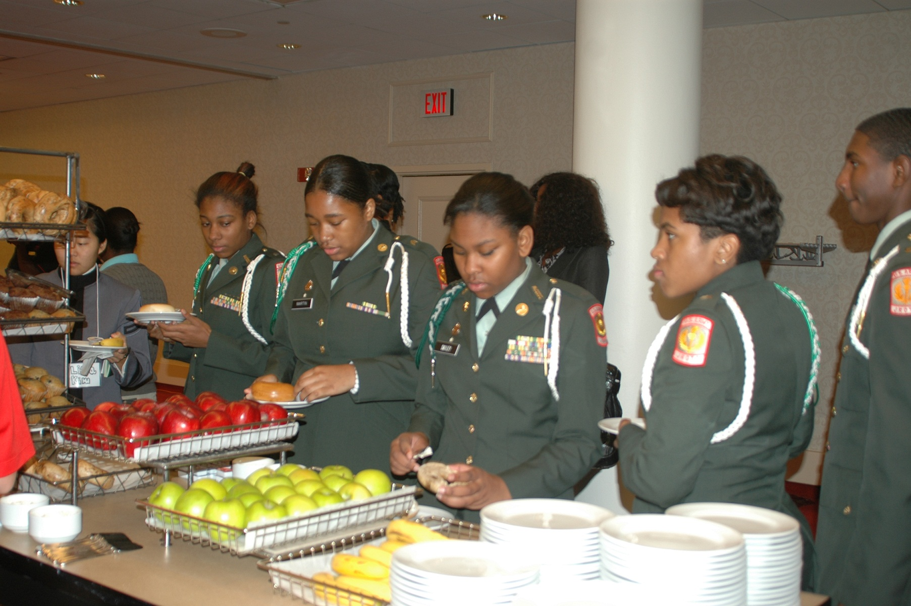 Detroit ROTC Cadets Breakfast at WPLE 2011
