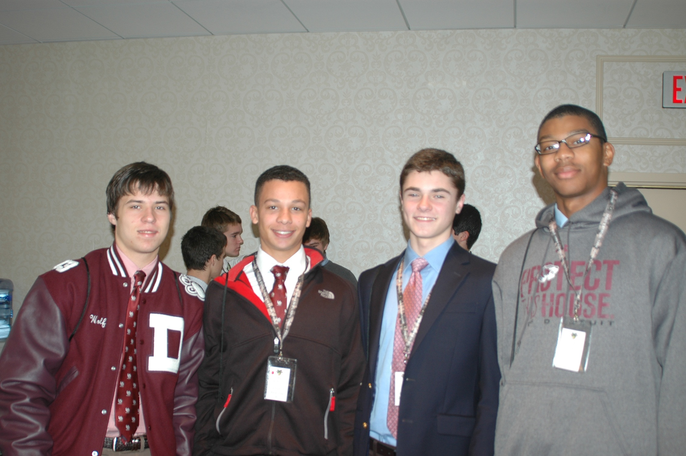 4 students at the Detroit WPLE Conference