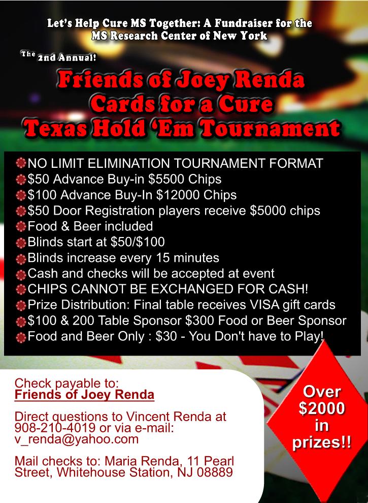 Joey Renda Poker Tournament