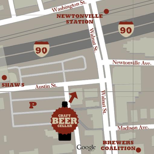 Newtonville Map