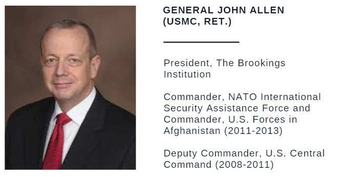 General John Allen (USMC, Ret.), President, The Brookings Institution