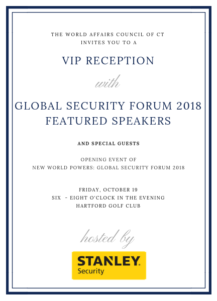 VIP Reception - Opening Event of the Global Security Forum 2018