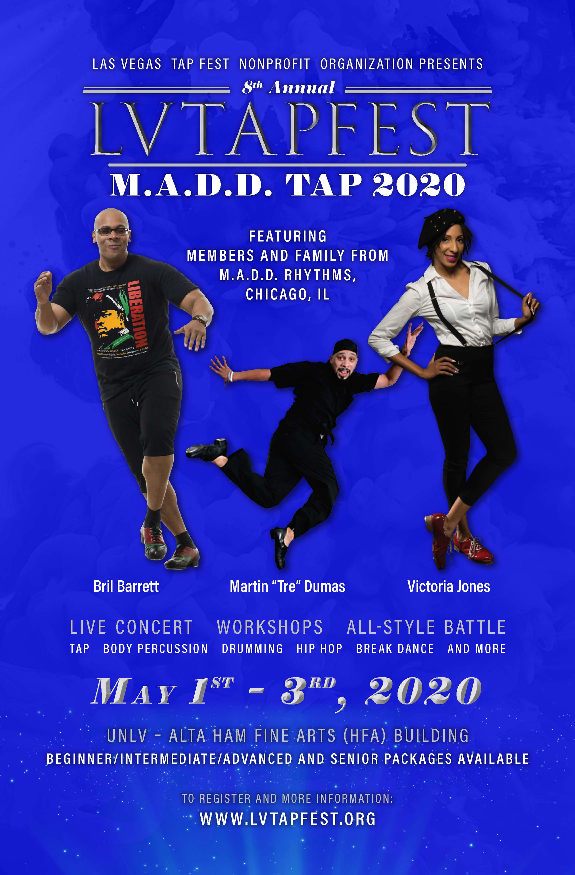 Unlv 2020 Calendar Tap Dance Festival   M.A.D.D. Tap 2020 Tickets, Fri, May 1, 2020