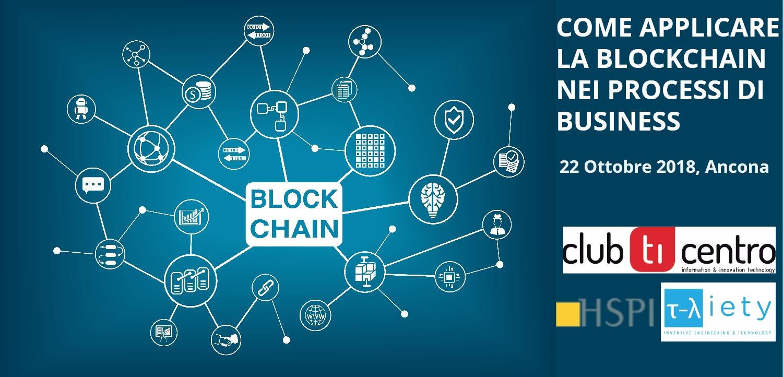 locandina evento blockchain 22 ottobre