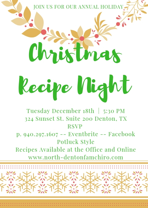 recipe night flyer