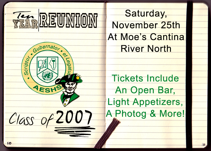 Stevenson High School Class of 2007 Reunion - Tickets include: An Open Bar, Light Appetizers, A Photographer & More!