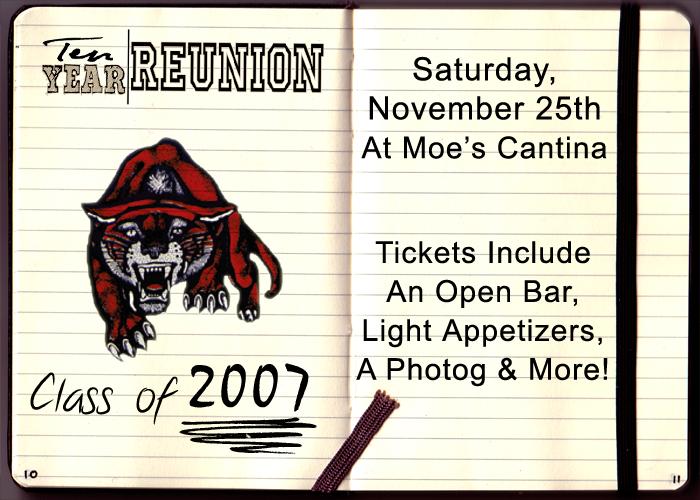Conant Class of 2007 Reunion - Tickets include: An Open Bar, Light Appetizers, a Photographer & More!