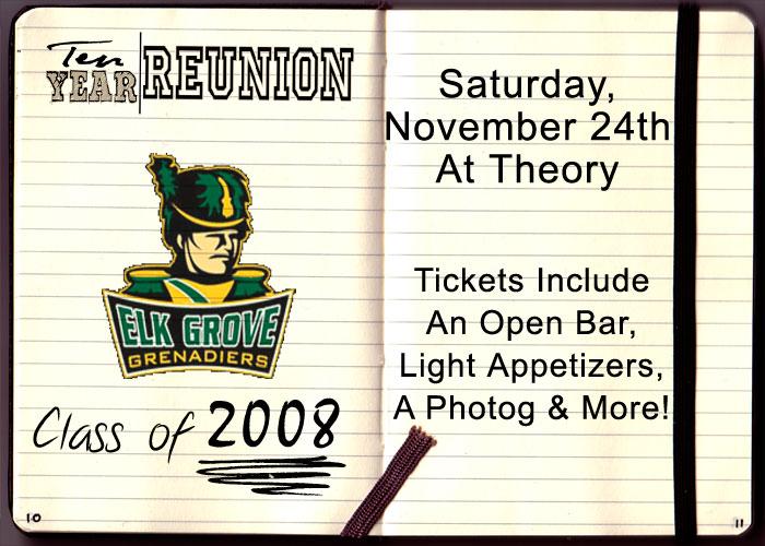 Elk Grove High School Ten Year Reunion - Tickets include: An Open Bar, Light Appetizers, a Photographer & More!