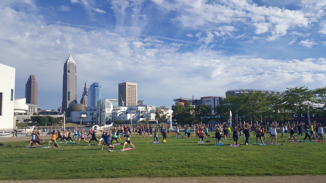 North Coast Namaste at Voinovich Park in North Coast Harbor