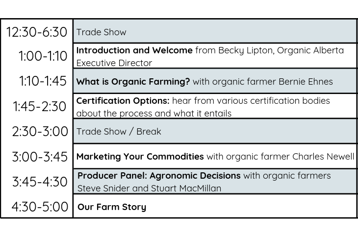 Workshop and Trade Show Schedule
