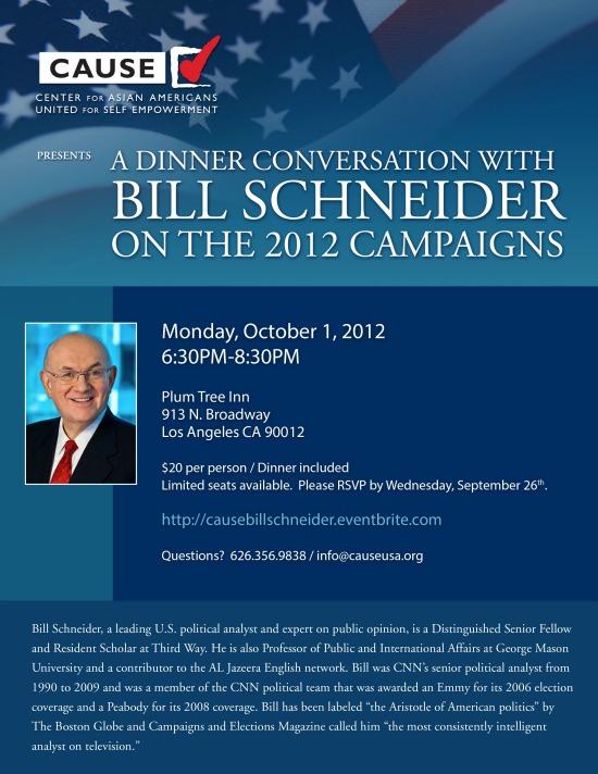 Bill Schneider Invitation
