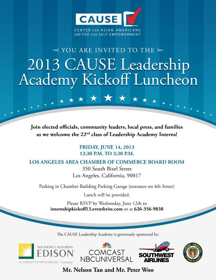 Leadership Academy Kickoff Luncheon 2013
