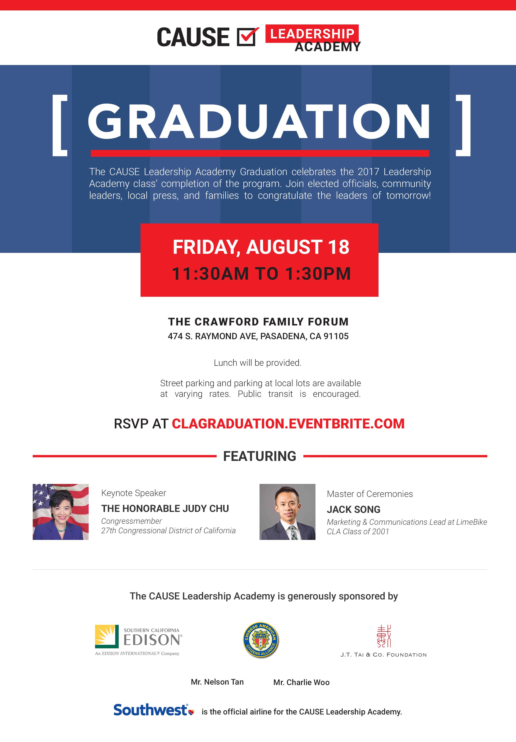 CLA Graduation flyer