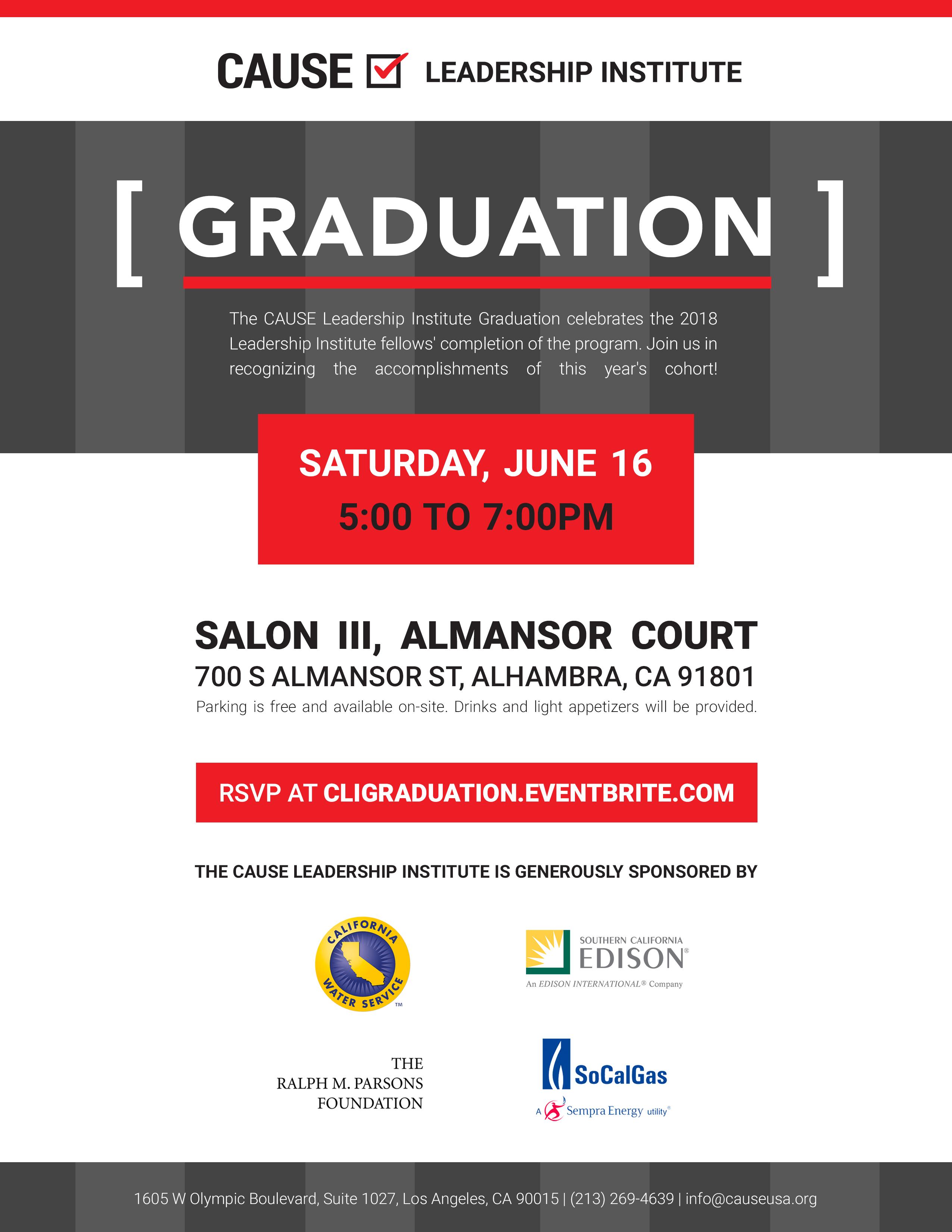 CLI Graduation Flyer