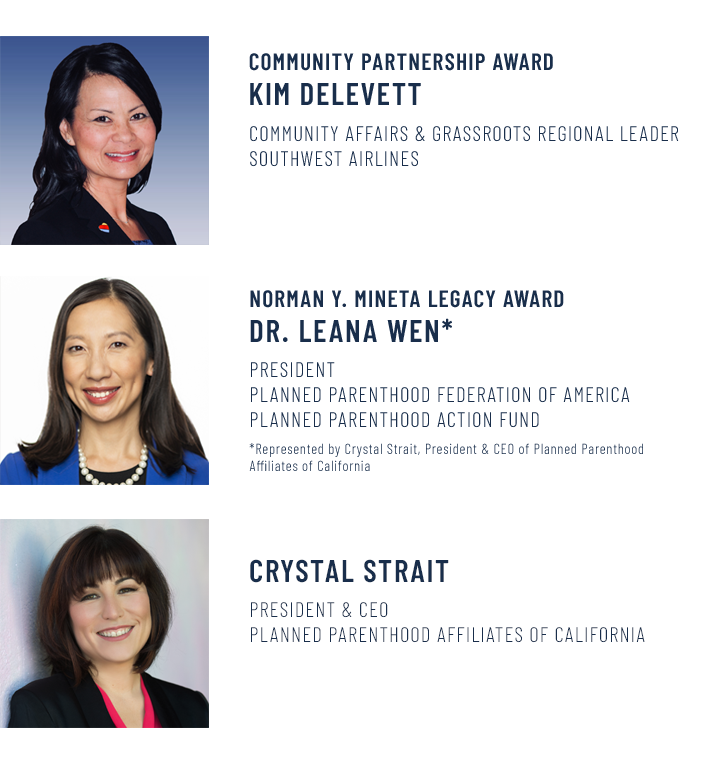 2019 Annual Gala honorees